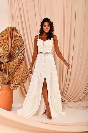 Vestido Longo Sabrina Branco