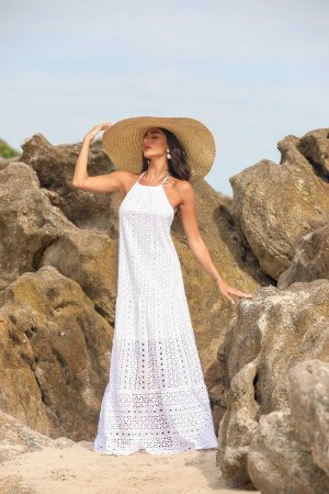 Vestido Longo Anna Branco