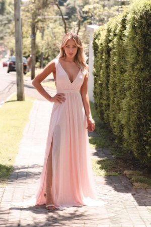 Vestido Longo Elis Rose