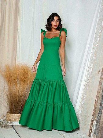 Vestido Longo Ana Verde