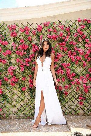Vestido Longo Fend Branco