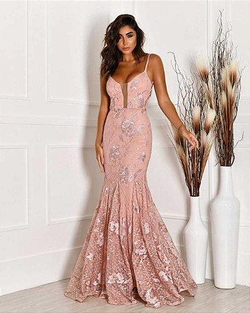 Vestido Longo Serena Rose