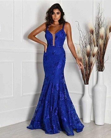 Vestido Longo Serena Azul