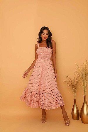 Vestido Mid Luiza Rose