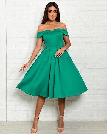Vestido Mid Thais Verde