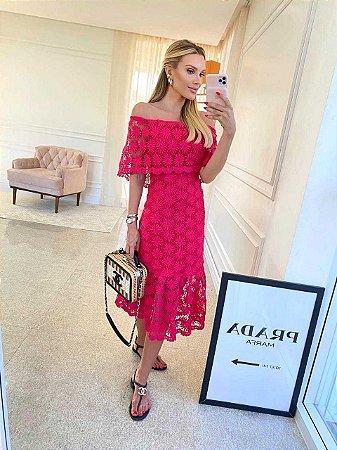 Vestido Mid Lorena Pink