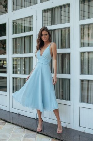 Vestido Mid Bette Azul