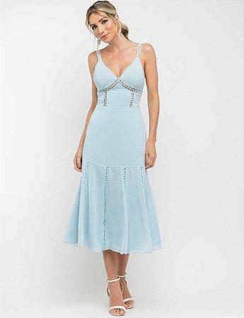 Vestido Mid Giu Azul