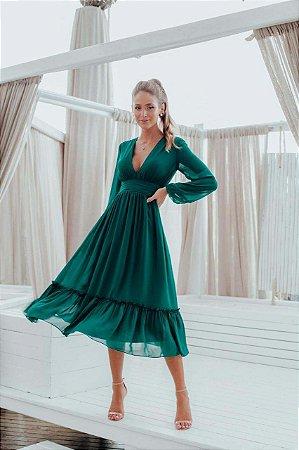 Vestido Mid Giulia Verde