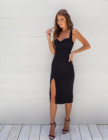 Vestido Mid Miss Preto