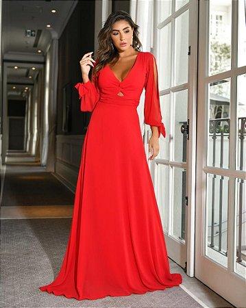 Vestido Longo Wam Vermelho