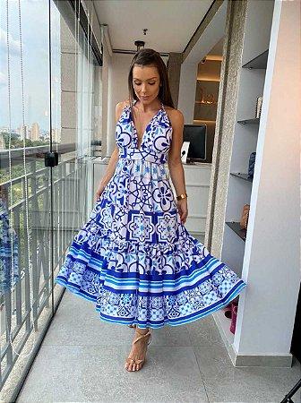 Vestido Mid Blue