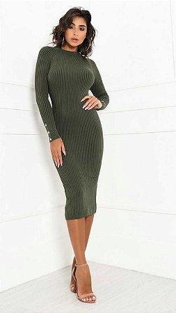 Vestido Mid Liz Verde