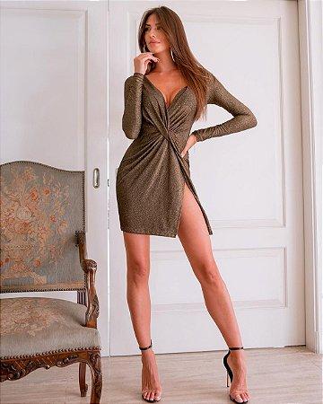 Vestido Paris Dourado