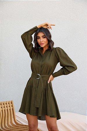 Vestido Gizelly Verde Militar