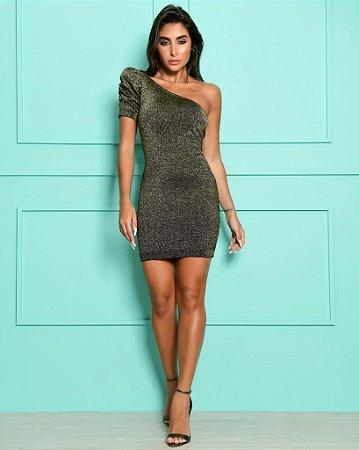 Vestido Laura Dourado