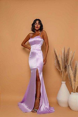 Vestido Longo Diamond Lilás