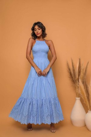 Vestido Longuete Mia Azul