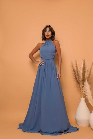 Vestido Longo Fer Azul