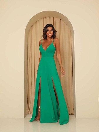 Vestido Longo Ibiza Verde Bandeira