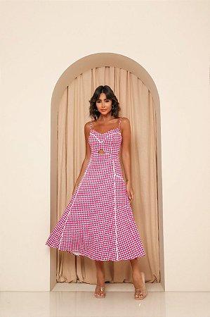 Vestido Midi Piedpoule Rosa
