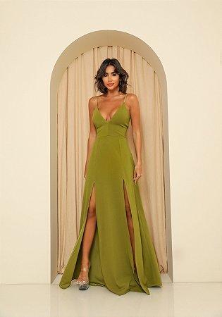Vestido Longo Ibiza Verde Oliva