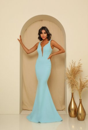Vestido Longo Marcela Azul