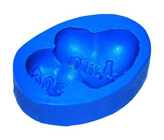 Forma de fazer sabonete e velas - Coração Amo Você 8x5
