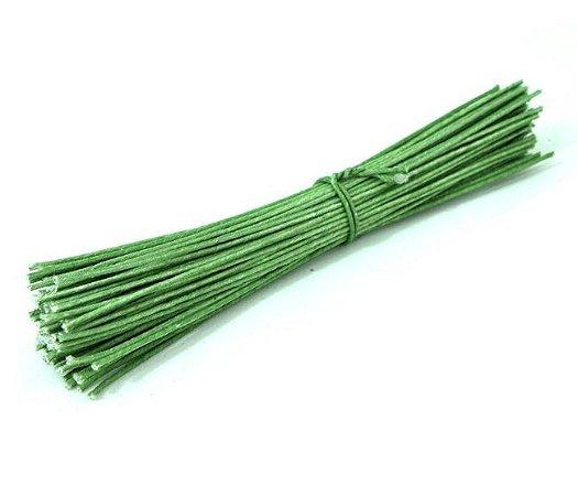 Arame 26 Verde Capim 100un  10cm