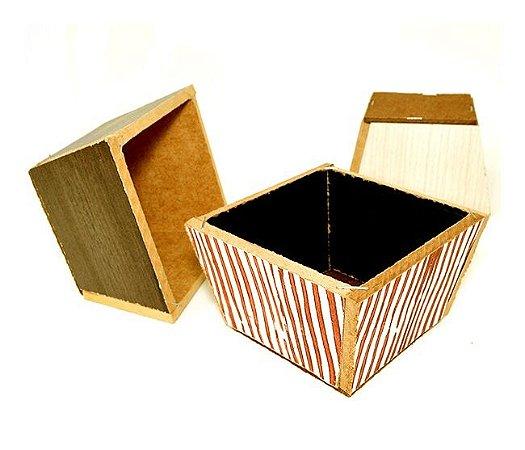 Vaso Quadrado P - MDF 6x10 - Cores Sortidas