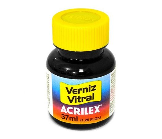 Verniz Vitral Acrilex - Preto