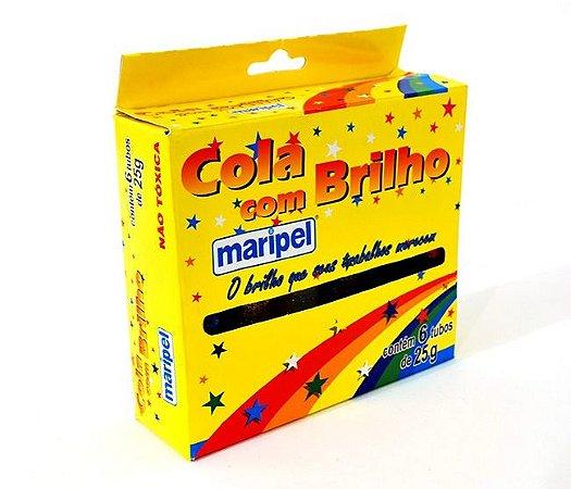 Cola Maripel com Brilho - Kit com 6 tubos de 25g