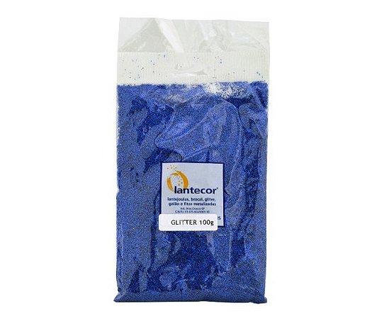 Glitter Lantecores -  Azul 100g