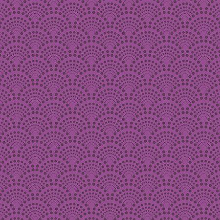 Tecido Leques roxo digital 100% algodão
