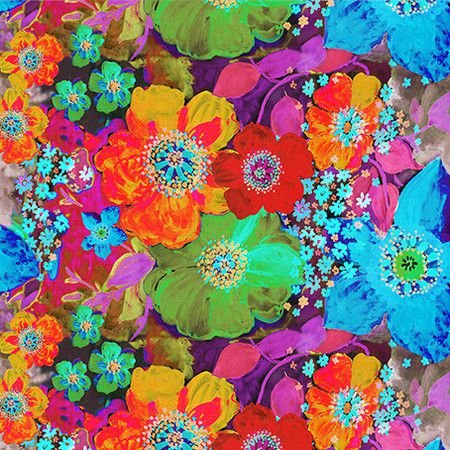 Tecido Floral Isabel digital 100% algodão