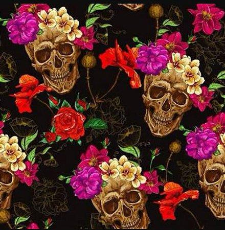 Tecido Skull Digital 100% algodão