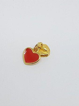 Cursor de Zíper nº 5 Coração dourado