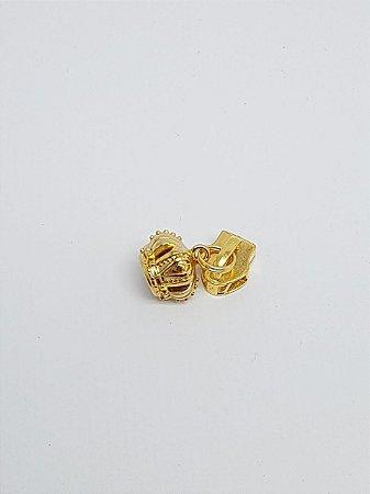 Cursor de Zíper nº 5 Coroa Dourado
