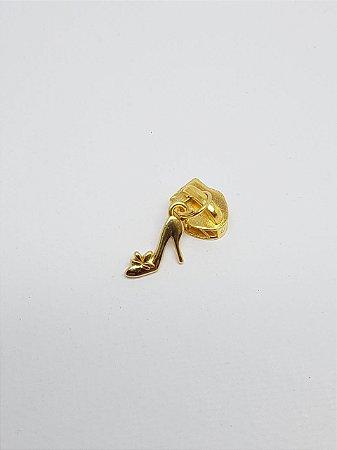 Cursor de Zíper nº 5 Sapatinho Dourado