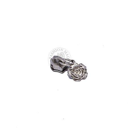 Cursor de Zíper nº5 Rosa prata