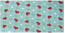 Tecido coruja coração Fundo Tiffany Digital 100% algodão