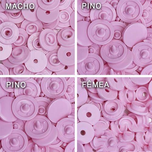 Botão Ritas, Tamanho 12mm, Pacote com 50 unidades, Cor Flamingo