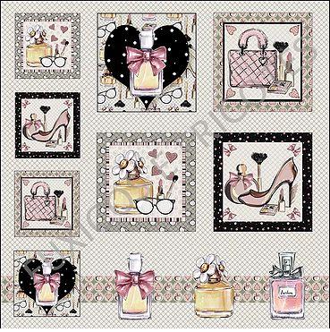 Painel Perfumes digital 100% algodão