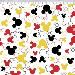 Tecido Mickey tricoline 100% algodão Ref:MK009C01