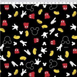 Tecido Mickey tricoline 100% algodão Ref: MK010C02