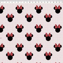 Tecido Minnie tricoline 100% algodão Ref: MI008C01