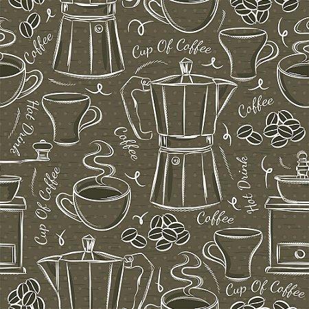 TECIDO CUP OFF COFFEE TRICOLINE 100% ALGODÃO 0,50 POR 1,50 LARGURA