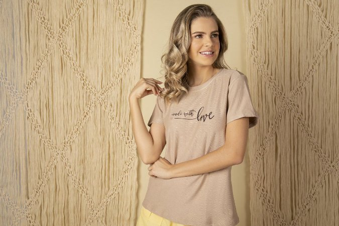 Tee luxo Made With Love - Luz que me guia