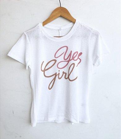 Tee luxo Yes Girl - Alma Leve