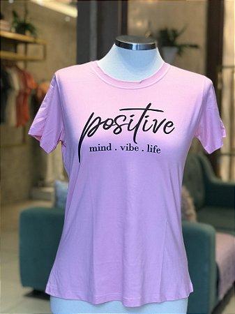 Tee luxo Positive - Alegria de viver